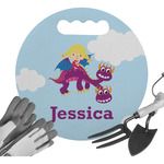 Girl Flying on a Dragon Gardening Knee Cushion (Personalized)