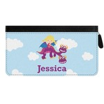 Girl Flying on a Dragon Genuine Leather Ladies Zippered Wallet (Personalized)