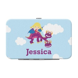 Girl Flying on a Dragon Genuine Leather Small Framed Wallet (Personalized)