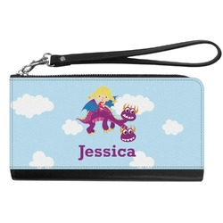 Girl Flying on a Dragon Genuine Leather Smartphone Wrist Wallet (Personalized)