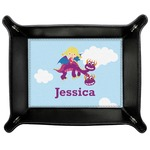 Girl Flying on a Dragon Genuine Leather Valet Tray (Personalized)