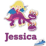Girl Flying on a Dragon Graphic Iron On Transfer (Personalized)