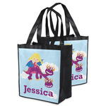 Girl Flying on a Dragon Grocery Bag (Personalized)