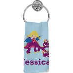 Girl Flying on a Dragon Hand Towel - Full Print (Personalized)
