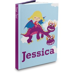 Girl Flying on a Dragon Hardbound Journal (Personalized)