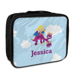 Girl Flying on a Dragon Insulated Lunch Bag (Personalized)