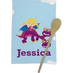 Girl Flying on a Dragon Kitchen Towel - Full Print (Personalized)