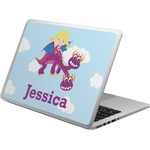 Girl Flying on a Dragon Laptop Skin - Custom Sized (Personalized)
