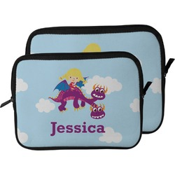 Girl Flying on a Dragon Laptop Sleeve / Case (Personalized)
