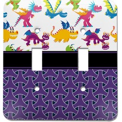 Girl Flying on a Dragon Light Switch Cover (2 Toggle Plate) (Personalized)