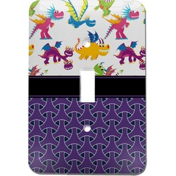 Girl Flying on a Dragon Light Switch Cover (Single Toggle) (Personalized)