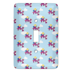 Girl Flying on a Dragon Light Switch Covers (Personalized)