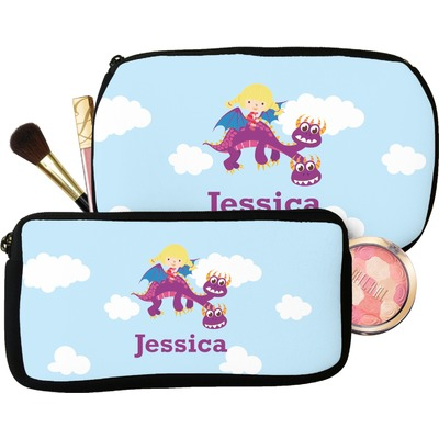 Girl Flying on a Dragon Makeup / Cosmetic Bag (Personalized)