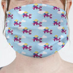 Girl Flying on a Dragon Face Mask Cover (Personalized)