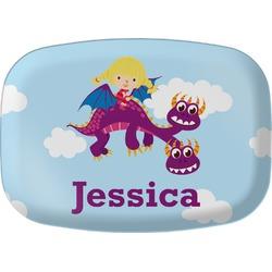 Girl Flying on a Dragon Melamine Platter (Personalized)
