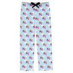 Girl Flying on a Dragon Mens Pajama Pants (Personalized)