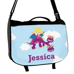 Girl Flying on a Dragon Messenger Bag (Personalized)