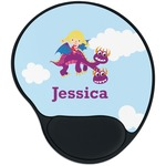 Girl Flying on a Dragon Mouse Pad with Wrist Support