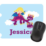 Girl Flying on a Dragon Mouse Pad (Personalized)