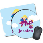 Girl Flying on a Dragon Mouse Pads (Personalized)