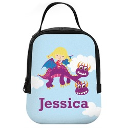 Girl Flying on a Dragon Neoprene Lunch Tote (Personalized)