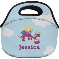 Girl Flying on a Dragon Lunch Bag (Personalized)