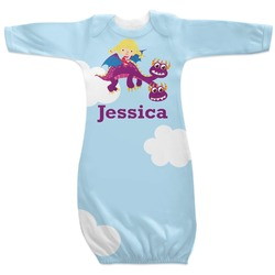 Girl Flying on a Dragon Newborn Gown - 3-6 (Personalized)