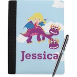 Girl Flying on a Dragon Notebook Padfolio (Personalized)