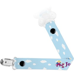 Girl Flying on a Dragon Pacifier Clips (Personalized)