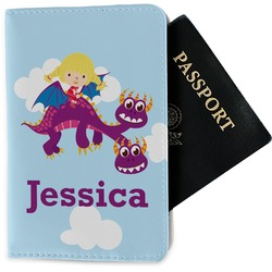Girl Flying on a Dragon Passport Holder - Fabric (Personalized)