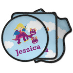 Girl Flying on a Dragon Iron on Patches (Personalized)