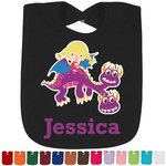 Girl Flying on a Dragon Bib - Select Color (Personalized)