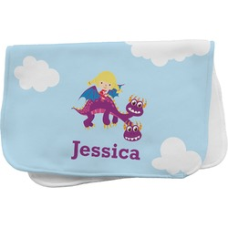 Girl Flying on a Dragon Burp Cloth (Personalized)