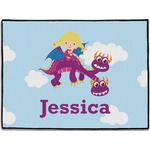 Girl Flying on a Dragon Door Mat (Personalized)