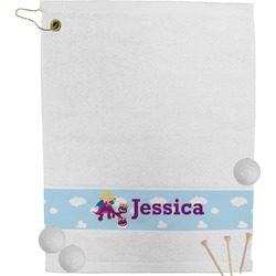 Girl Flying on a Dragon Golf Towel (Personalized)