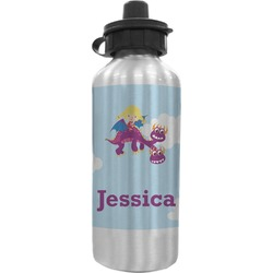 Girl Flying on a Dragon Water Bottle (Personalized)