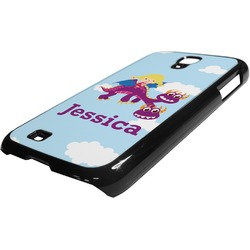 Girl Flying on a Dragon Plastic Samsung Galaxy 4 Phone Case (Personalized)