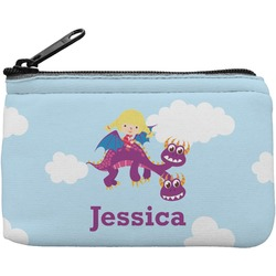 Girl Flying on a Dragon Rectangular Coin Purse (Personalized)