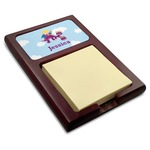 Girl Flying on a Dragon Red Mahogany Sticky Note Holder (Personalized)