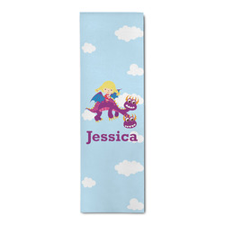 Girl Flying on a Dragon Runner Rug - 3.66'x8' (Personalized)