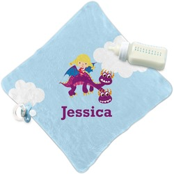Girl Flying on a Dragon Security Blanket (Personalized)