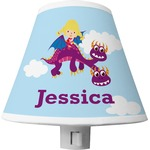 Girl Flying on a Dragon Shade Night Light (Personalized)