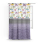 Girl Flying on a Dragon Sheer Curtains (Personalized)