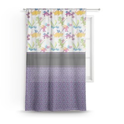 """Girl Flying on a Dragon Sheer Curtain - 50""""x84"""" (Personalized)"""