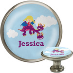 Girl Flying on a Dragon Cabinet Knobs (Personalized)