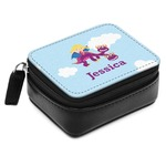 Girl Flying on a Dragon Small Leatherette Travel Pill Case (Personalized)