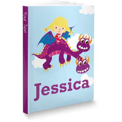 Girl Flying on a Dragon Softbound Notebook (Personalized)