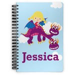 Girl Flying on a Dragon Spiral Bound Notebook (Personalized)