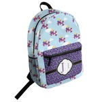 Girl Flying on a Dragon Student Backpack (Personalized)