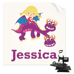 Girl Flying on a Dragon Sublimation Transfer (Personalized)